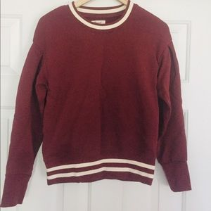 Madewell pleat sleeve sweatshirt. Size small